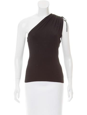 Michael Kors One-Shoulder Knit Top None