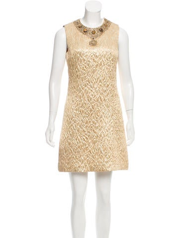 Michael Kors Silk & Wool-Blend Embellished Dress None