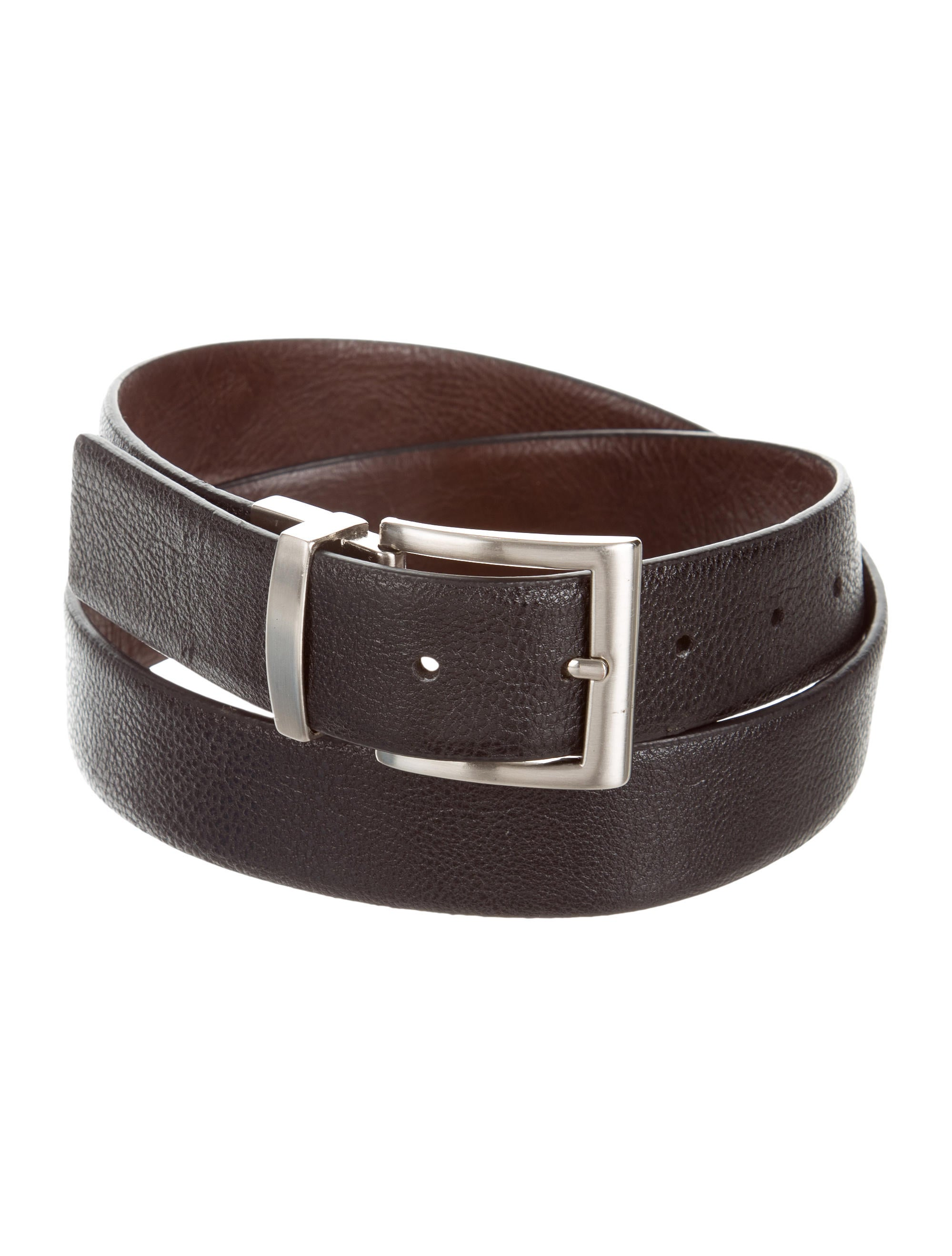 michael kors silver tone vegan leather belt accessories