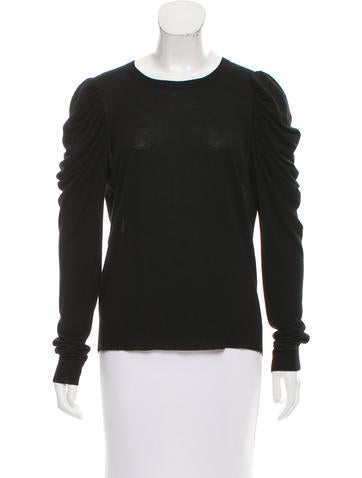 Michael Kors Ruched Long Sleeve Sweater None