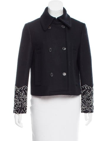 Michael Kors Double-Breasted Wool Coat None