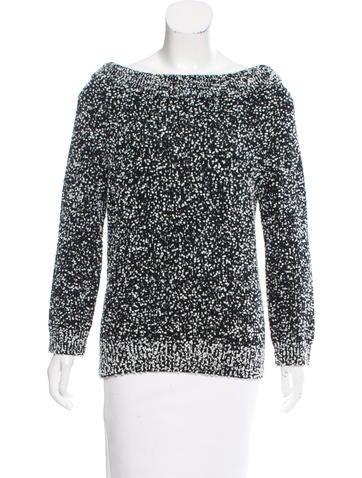 Michael Kors Off-The-Shoulder Bouclé Sweater w/ Tags None