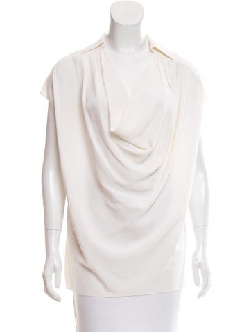 Michael Kors Silk Short Sleeve Top None