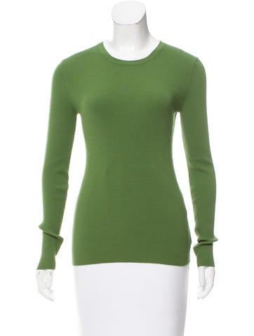 Michael Kors Long Sleeve Rib Knit Top None