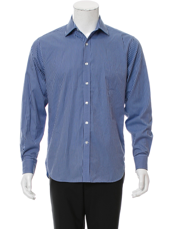 Michael kors striped button down shirt mens shirts for Striped button down shirts for men