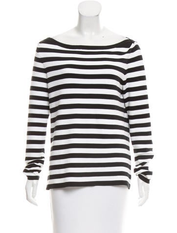 Michael Kors Striped Bateau Top None