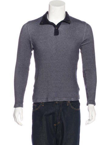 Michael Kors Thermal Henley Sweater None