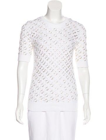 Michael Kors Knit Short Sleeve Sweater None