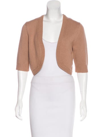 Michael Kors Cashmere Cropped Cardigan None