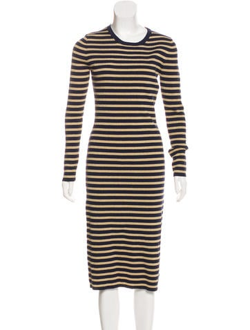 Michael Kors Metallic Striped Dress None