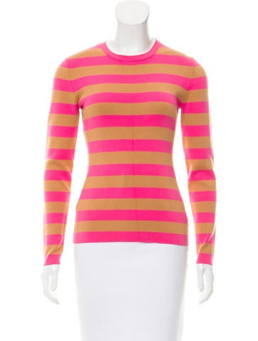 Michael Kors Striped Knit Top None