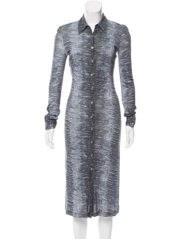 Michael Kors Midi Jersey Knit Dress None