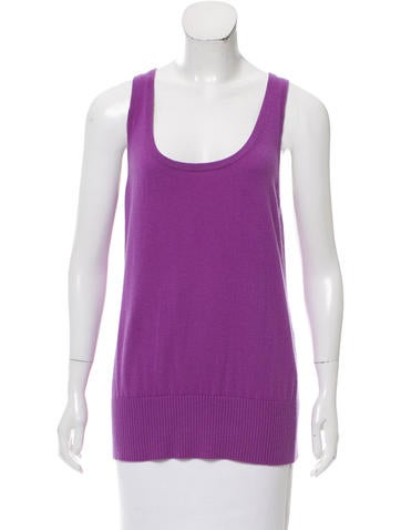 Michael Kors Sleeveless Cashmere Top None