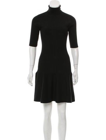 Michael Kors Ribbed Wool Dress None