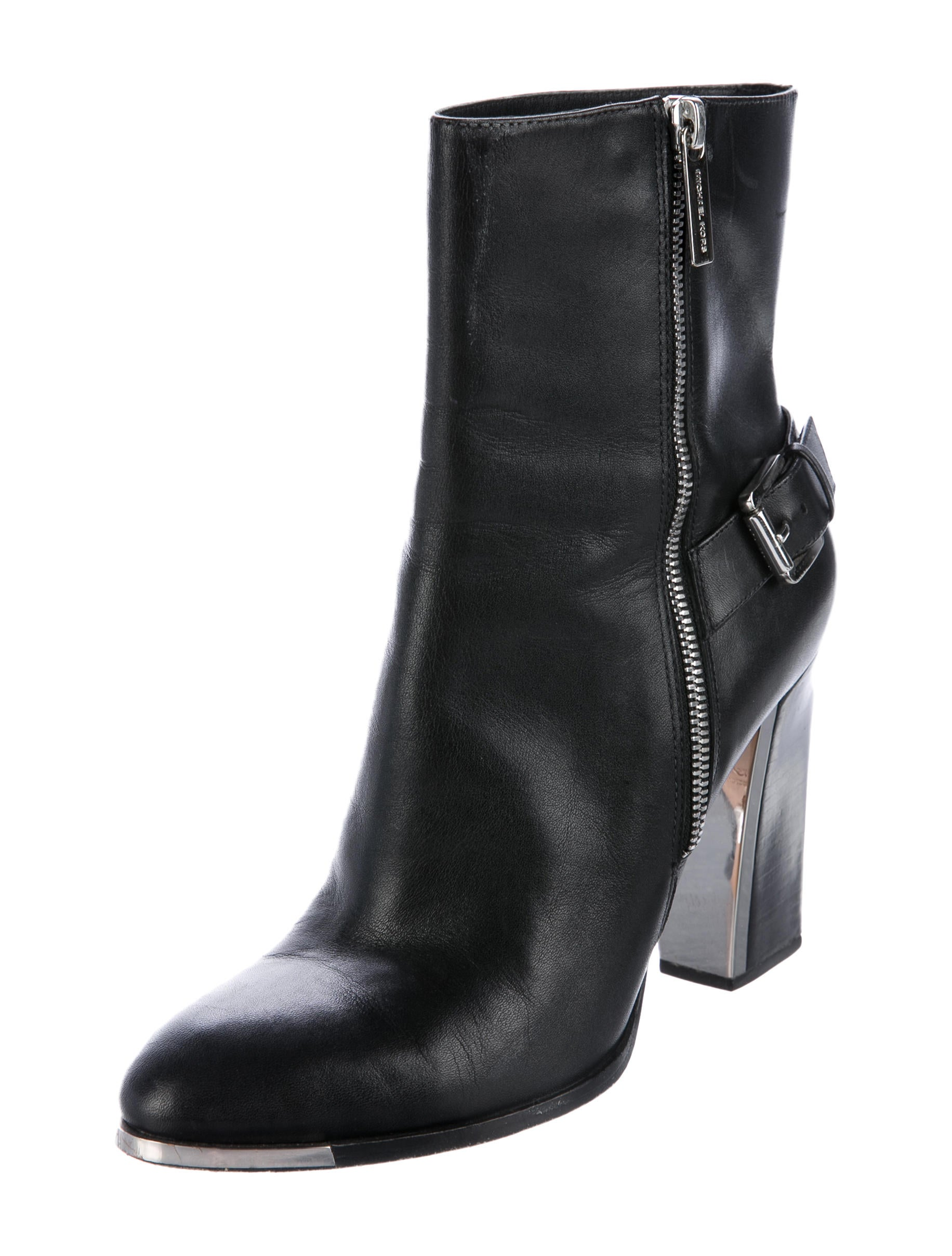 michael kors leather ankle boots shoes mic56469 the. Black Bedroom Furniture Sets. Home Design Ideas