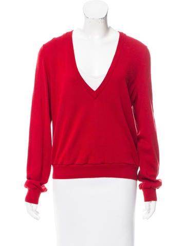 Michael Kors V-Neck Long Sleeve Sweater None