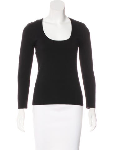 Michael Kors Cashmere Long Sleeve Top None