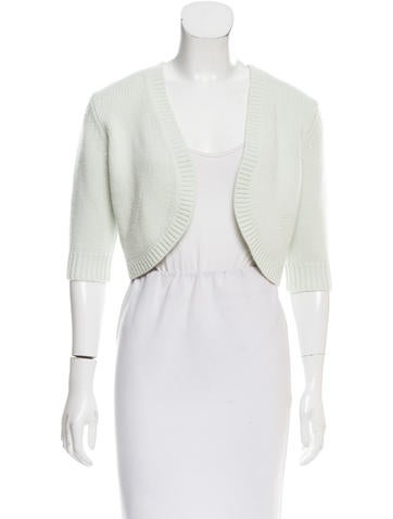 Michael Kors Cropped Cashmere Cardigan None