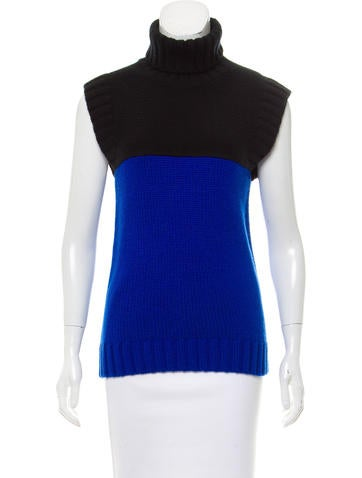 Michael Kors Colorblock Cashmere Turtleneck Top None