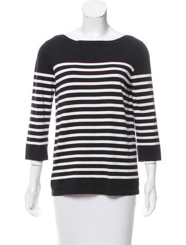 Michael Kors Striped Knit Top None