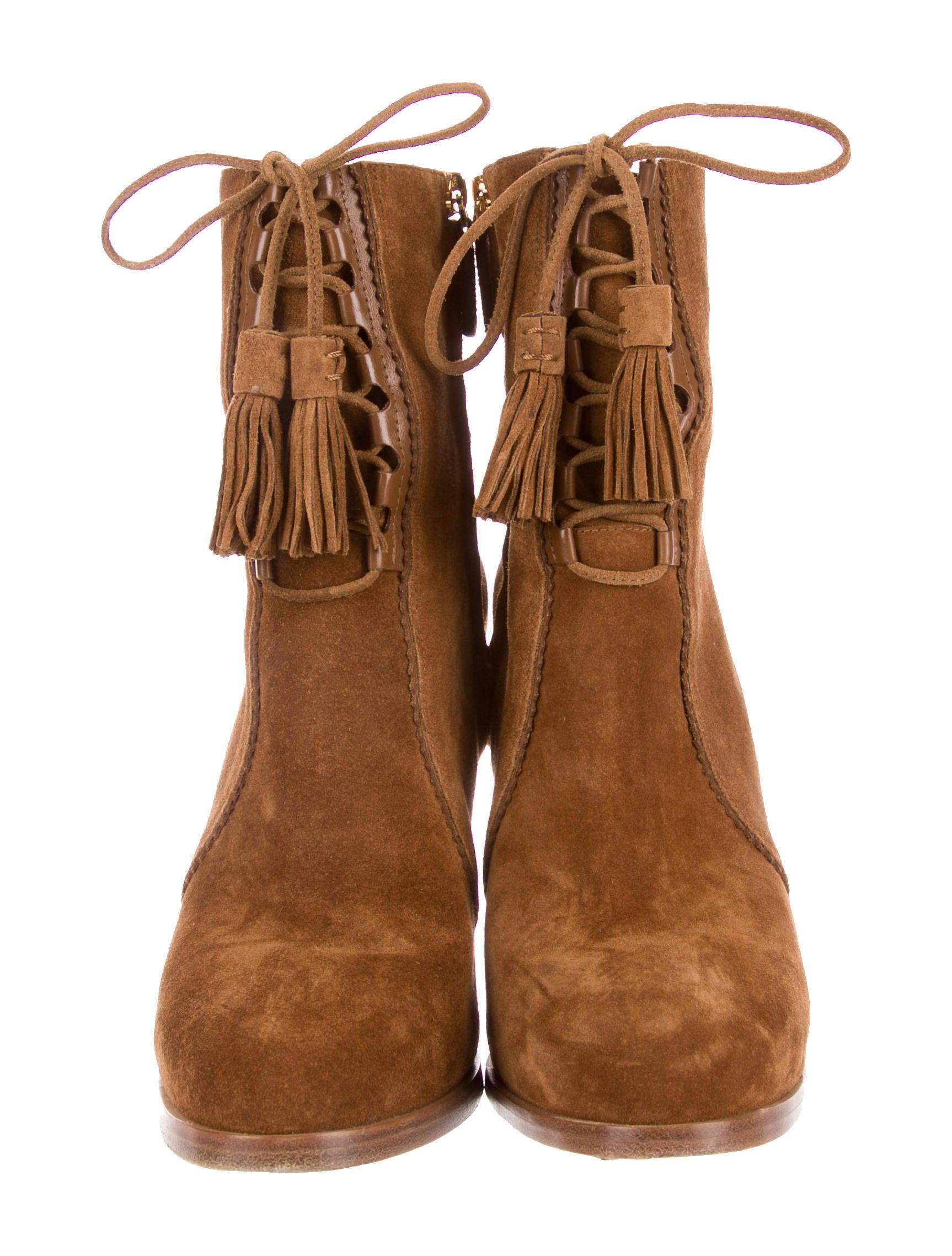 michael kors suede lace up ankle boots shoes mic56752. Black Bedroom Furniture Sets. Home Design Ideas