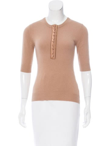 Michael Kors Button-Up Cashmere Sweater None