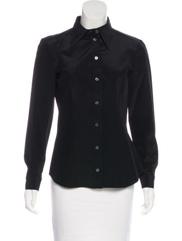 Michael Kors Silk Button-Up Top None