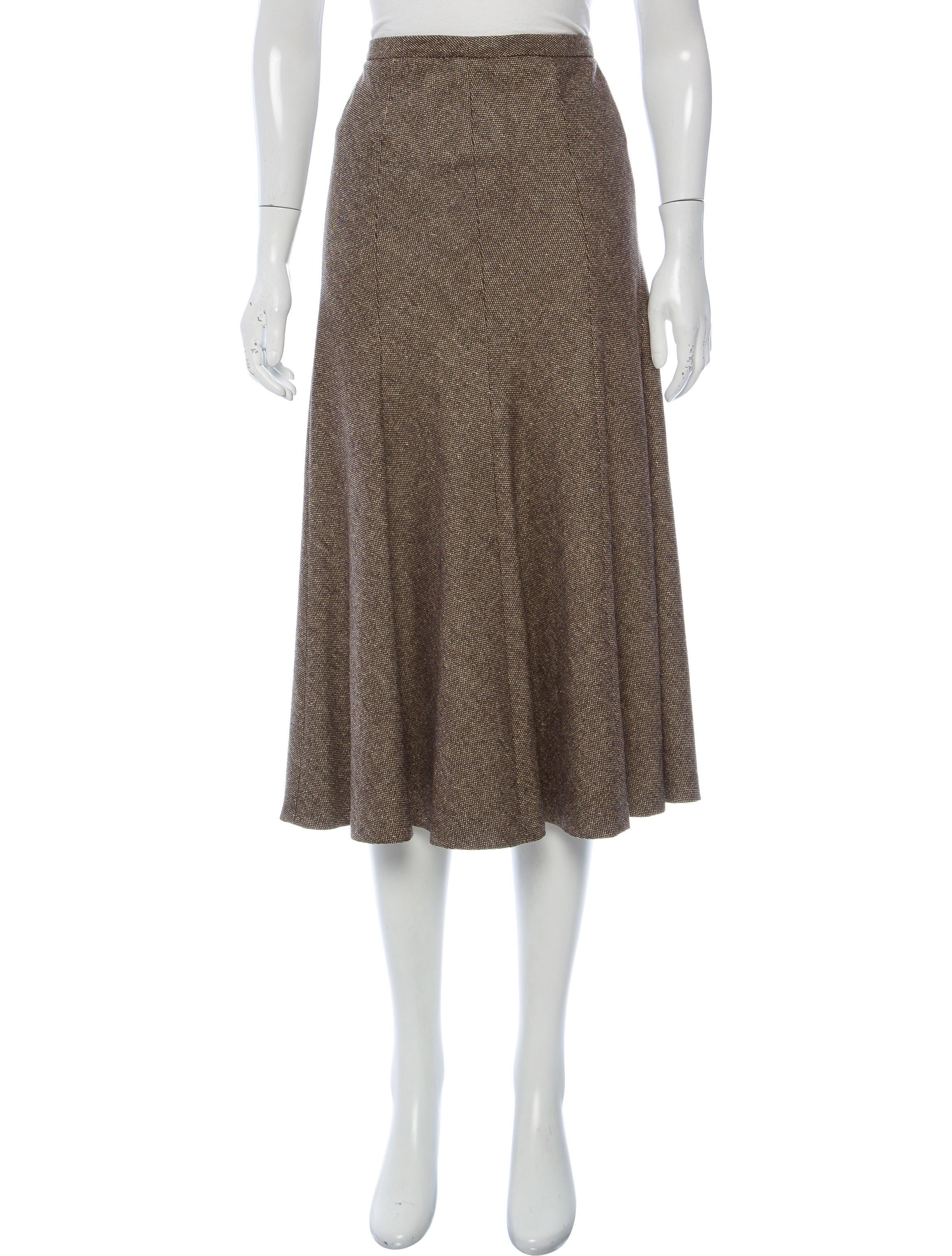 Michael Kors Tweed Wool Skirt Clothing MIC