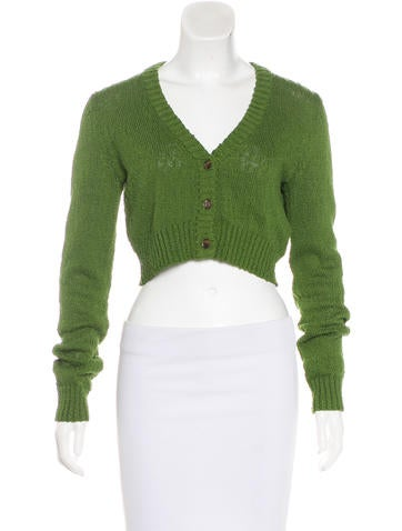 Michael Kors Cropped Cardigan Sweater None
