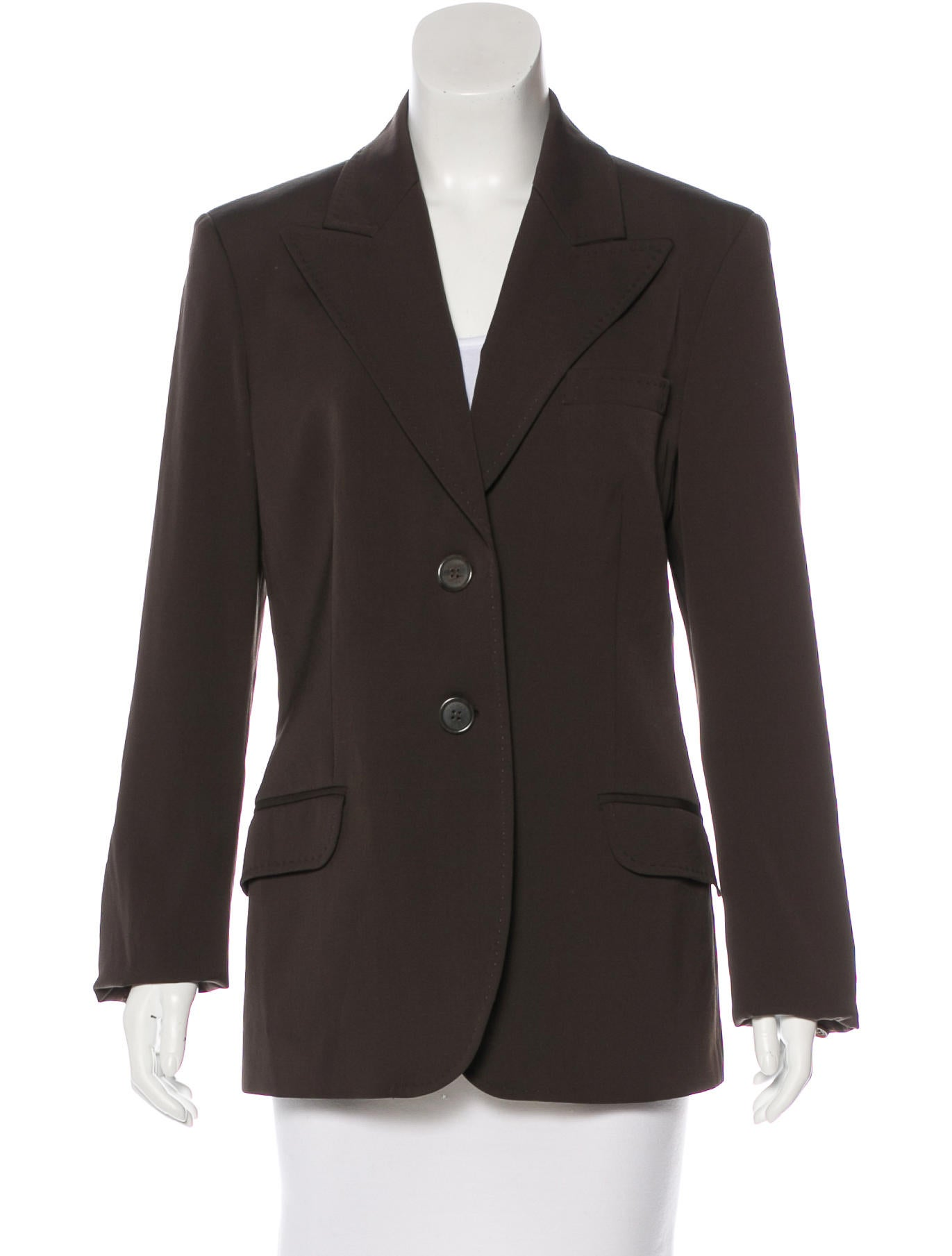 michael kors long wool blazer clothing mic57261 the realreal. Black Bedroom Furniture Sets. Home Design Ideas