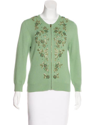 Michael Kors Cashmere Embellished Cardigan Set None