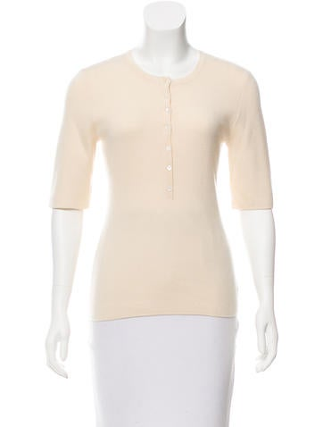 Michael Kors Cashmere Button-Accented Sweater None