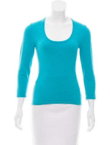 Michael Kors Cashmere Scoop Neck Sweater None