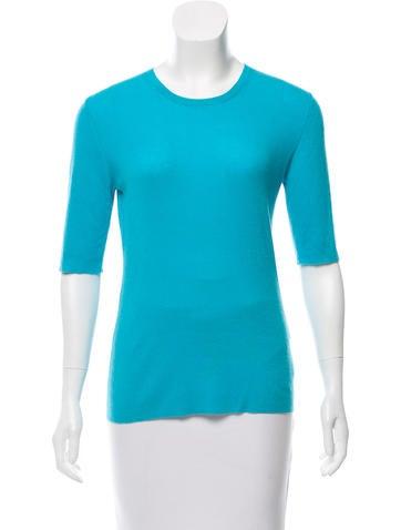 Michael Kors Three-Quarter Sleeve Cashmere Top None