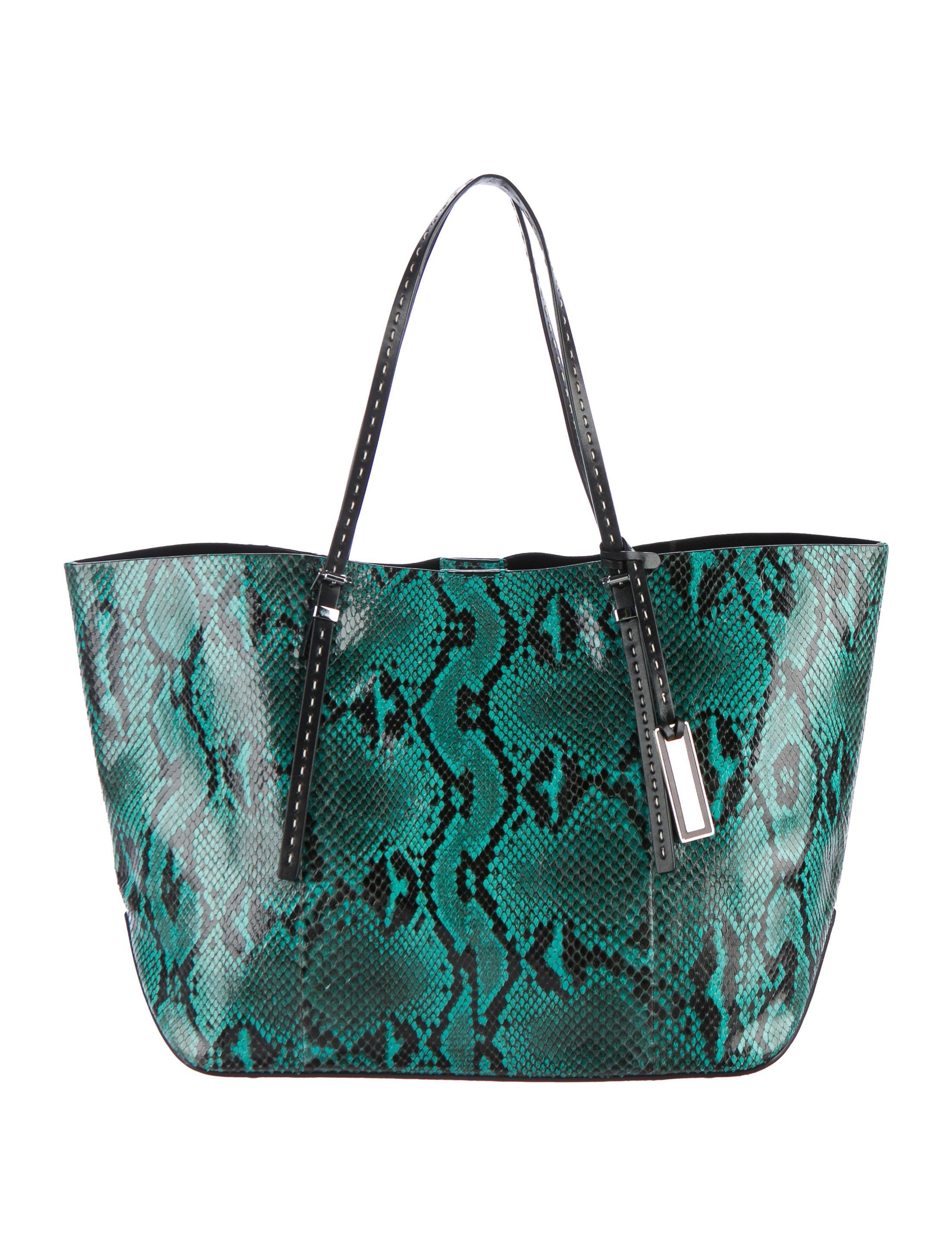 b2ecb81414850c Michael Kors 2015 Jaryn Python Tote - Handbags - MIC58199 | The RealReal