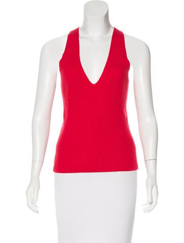 Michael Kors Cashmere Halter Top None