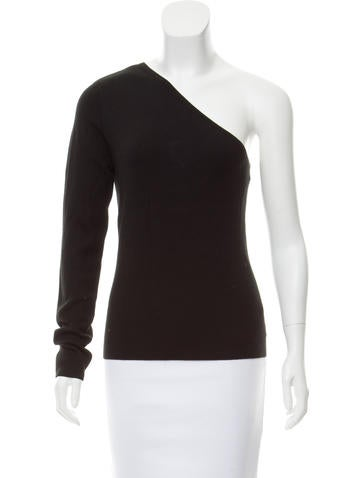 Michael Kors One-Shoulder Cashmere Top None