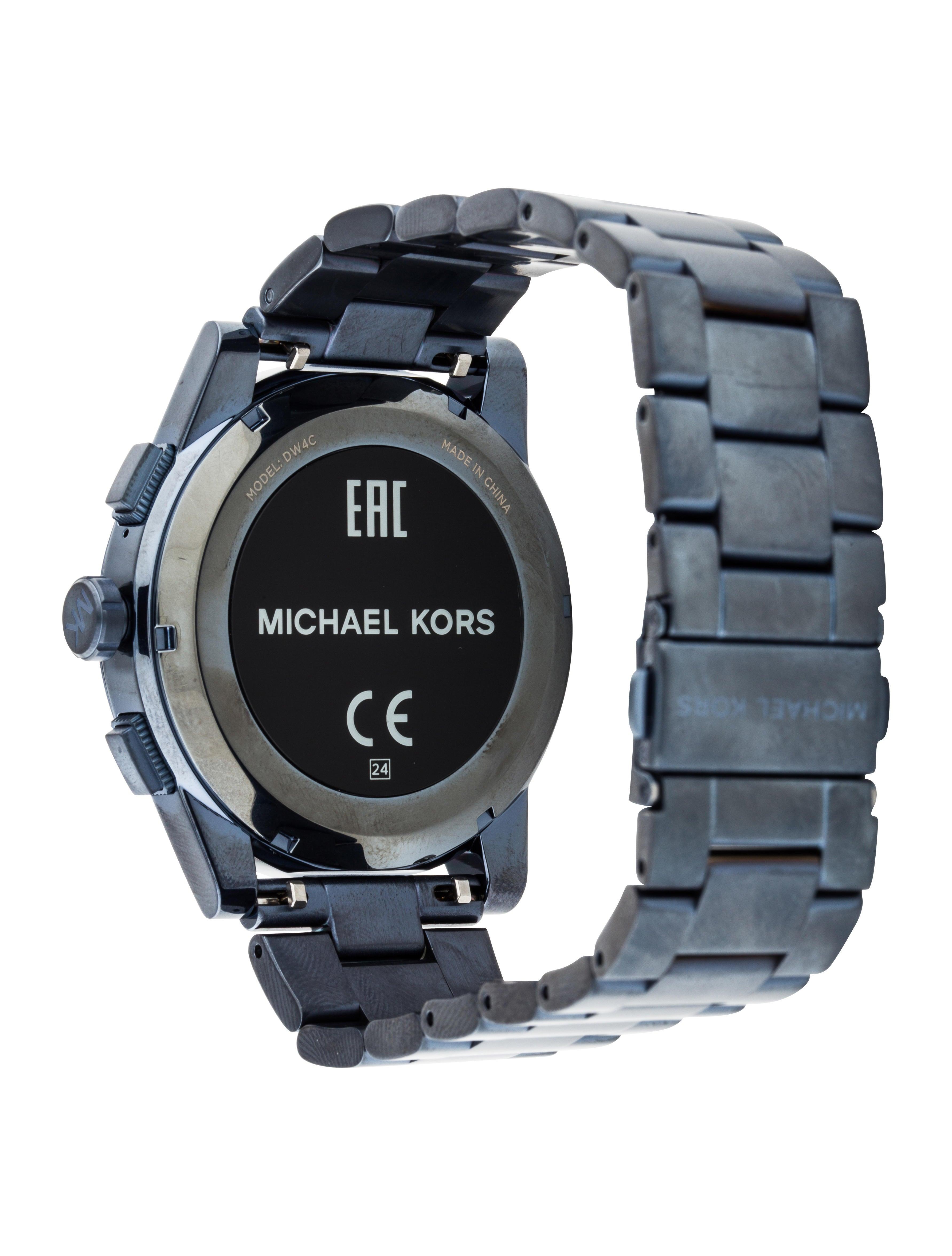 michael kors grayson smartwatch bracelet mic58811. Black Bedroom Furniture Sets. Home Design Ideas