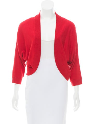 Michael Kors Cropped Wool Cardigan None