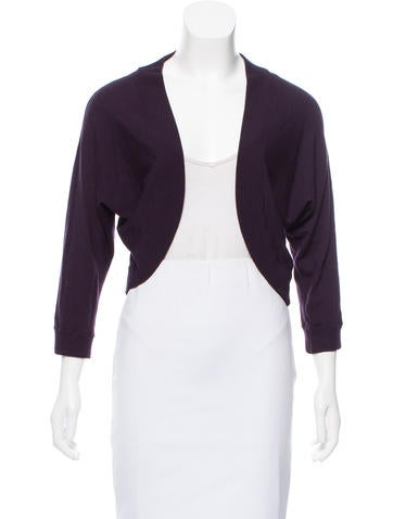 Michael Kors Cropped Knit Cardigan None