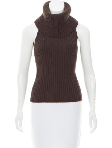 Michael Kors Cowl Neck Wool Top None