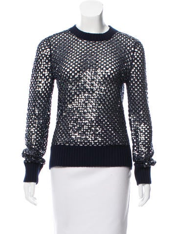 Michael Kors Cashmere Sequined Sweater None