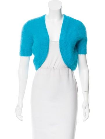 Michael Kors Angora-Blend Short Sleeve Shrug w/ Tags None