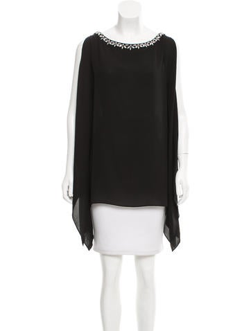 Michael Kors Silk Embellished Top None