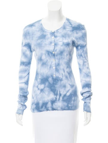 Michael Kors Printed Rib Knit Top None
