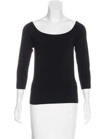 Michael Kors Off-The-Shoulder Wool Top None