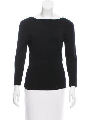 Michael Kors Cashmere Three-Quarter Sleeve Sweater None