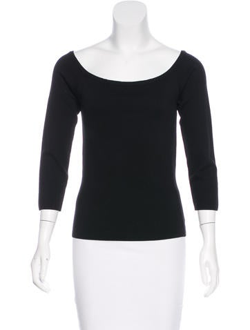 Michael Kors Wool Off-The-Shoulder Top None