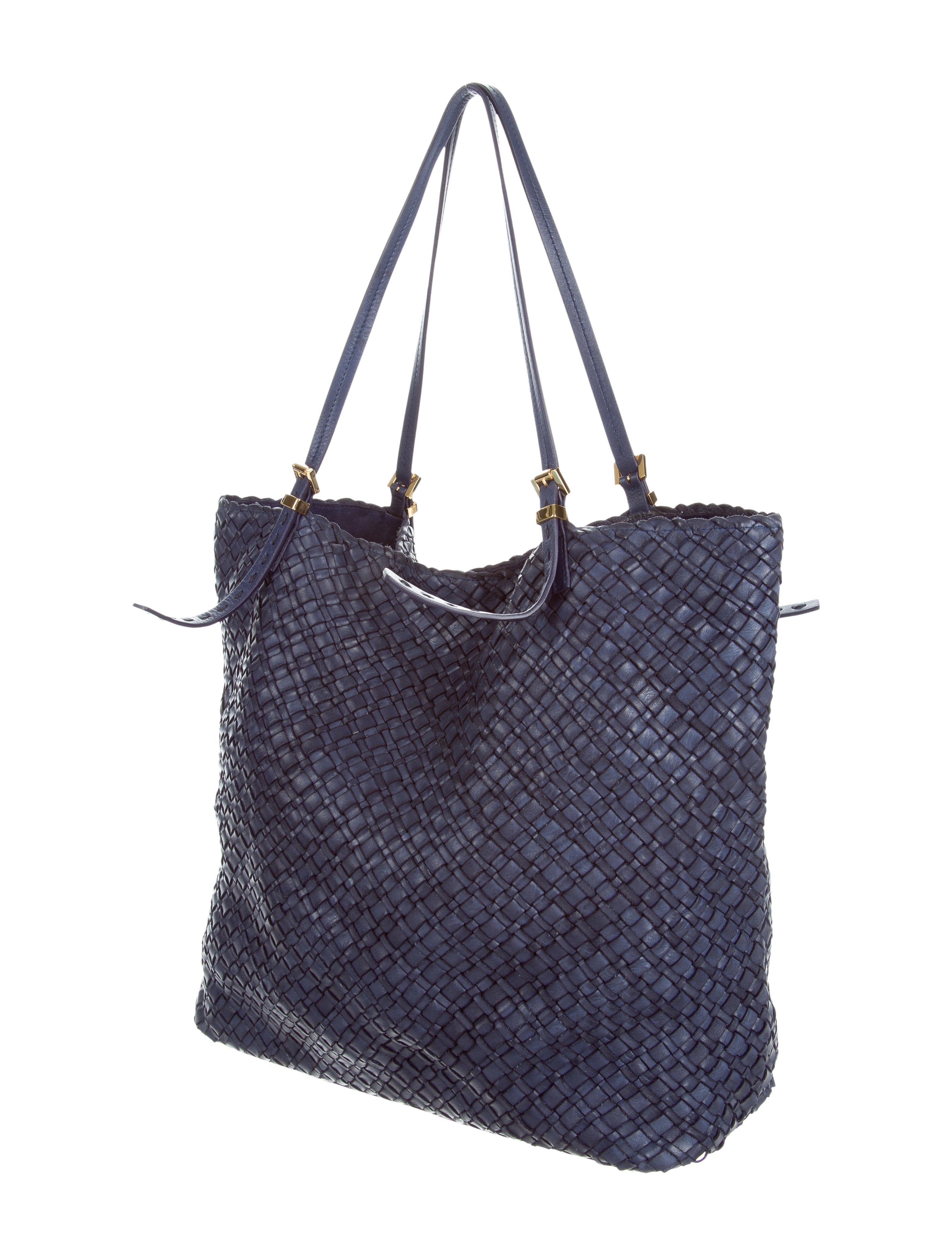 Large Hutton Woven Leather Tote