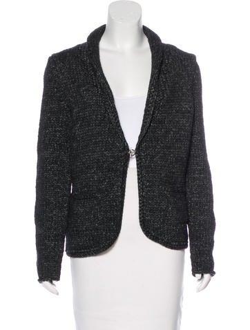 Michael Kors Wool Rib Knit Cardigan None